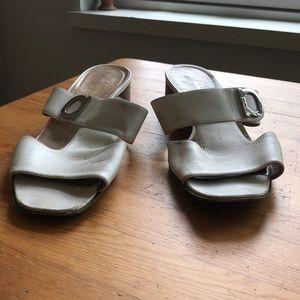 Ferragamo Leather Slides